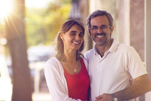 Couple partenaire mariage heureux