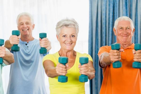 Exercices musculation seniors