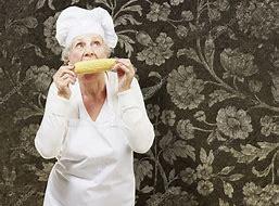 Senior qui mange