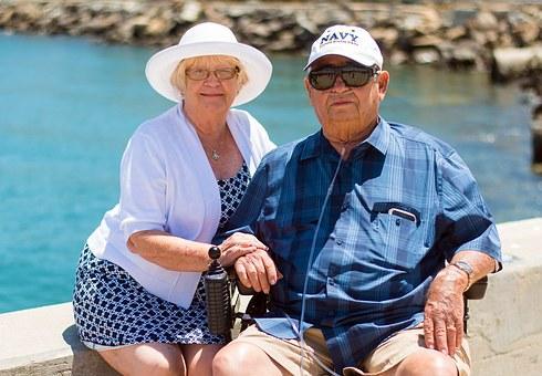 Seniors avec regime alimentaire